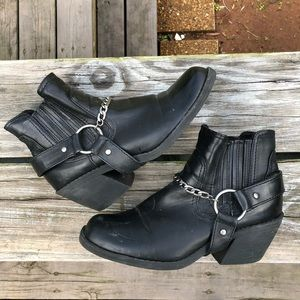 Western Harness Motorcycle Ankle Boots🌿